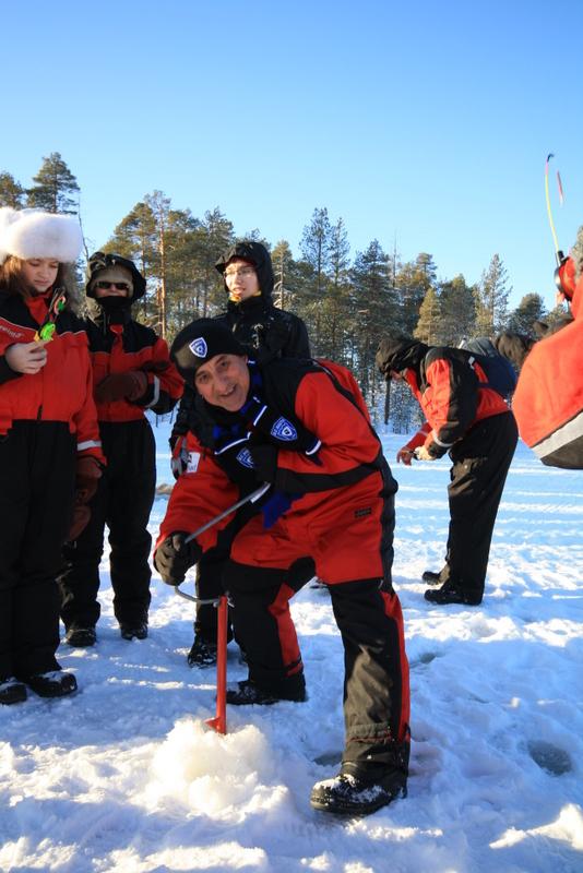 Ice fishing Credit Markku Inkila
